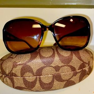 Coach Sunglasses with Monogram Coach Case